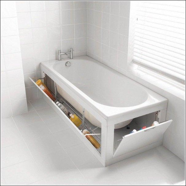 # Utilize your unused space around the tub.