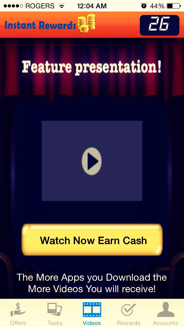 Watch a video to earn quick cash