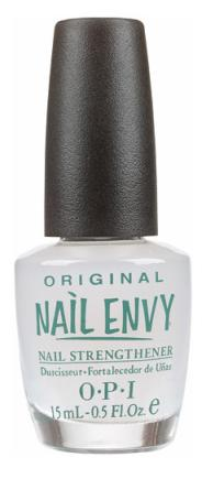 Base, top, & clear coats can work wonders.If u want to avoid color, clear polish is a great go-to for decent looking nails. While it protects ur nails from breaking, it could also help decrease nail biting (especially those with a specific taste). OPI's Nail Envy, which strengthens damaged nail.
