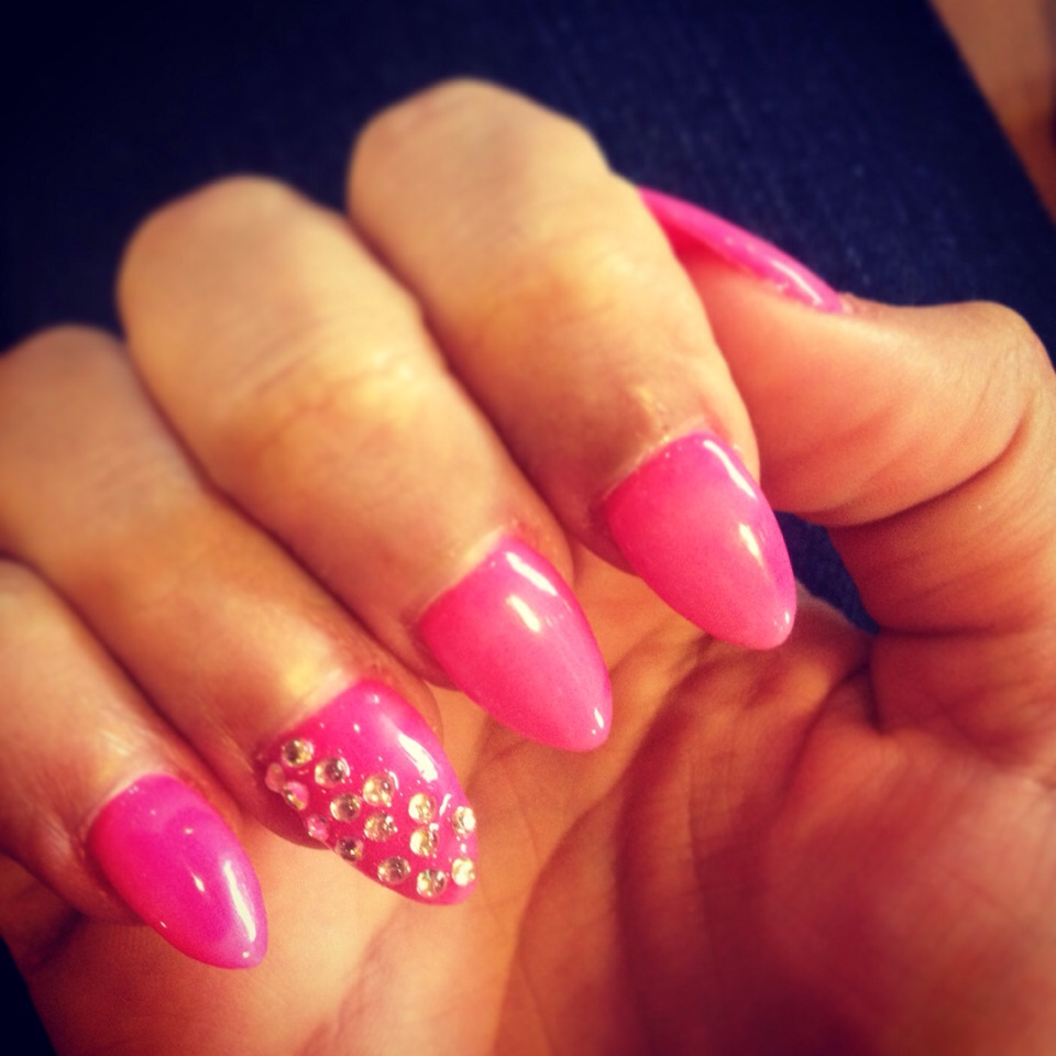 These are my nails. Simple & cute