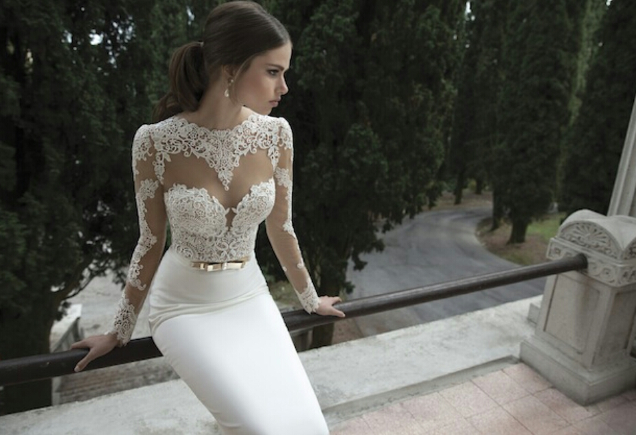 60c84d5ebb1 30 Gorgeous Wedding Dressings With Long Lace Sleeves!