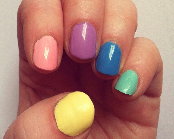 after painting nails run them under the cold tap for a few minutes to dry them quicker.