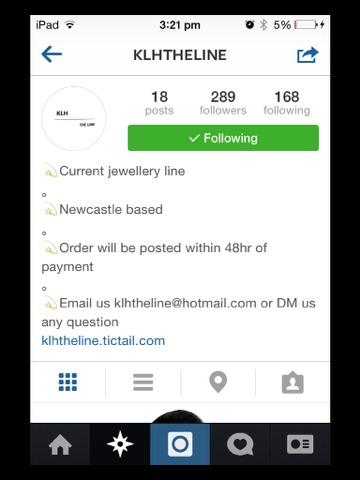 Their instagram is @klhtheline their website link is in their bio!