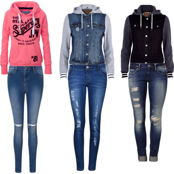 Cute jackets and sweatshirts with skinny jeans💋