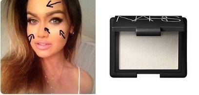 17. If sleep isn't on your schedule, you can use this helpful highlighter cheat to look more awake.