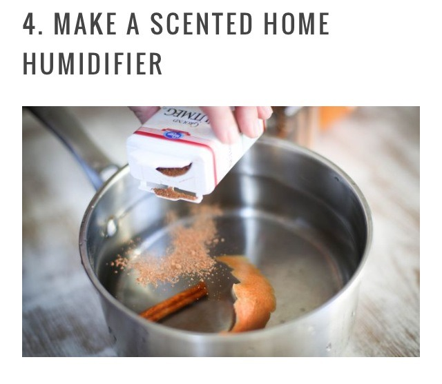 With the heat on all the time you need some humid air in the house. A stovetop simmer like this grapefruit and cinnamon combination is so easy and smells amazing. Have fun experimenting with different scents!