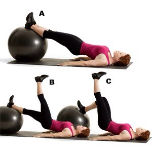 MOVE 7 Hip Bridge and Heel Drag  SETS: 3REPS: 12 to 15REST: 30 seconds Works core, glutes, hamstrings, quads, and calves