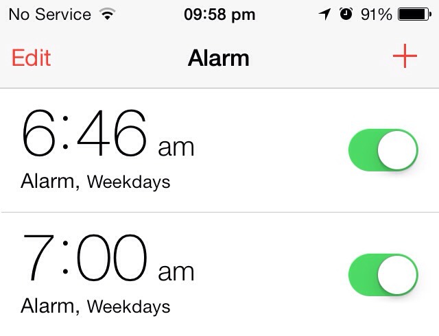 1. Set 2 alarms, about 10 minutes between each other (or more if your really bad at getting up).