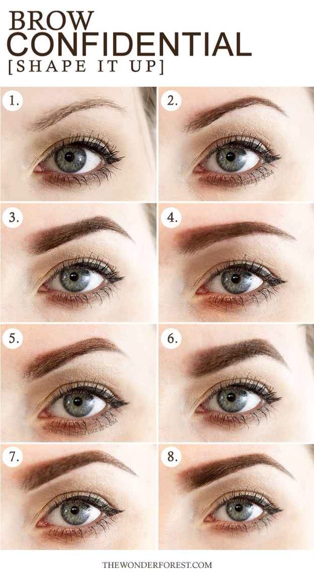 --> Thicker brows can add more impact to a face, while slightly thinner brows can give a delicate look.