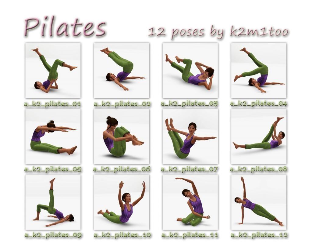 основные упражнения пилатеса в картинках картинки видео про