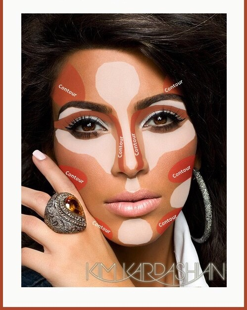 """Here's what you'll need  • highlight powder/liquid or concealer  • bronzer or darker """"base""""  • blush"""