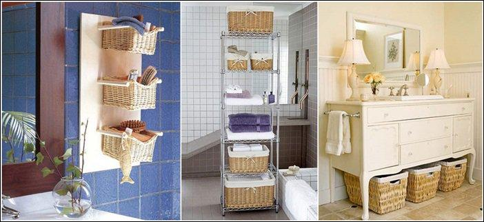 Wicker makes for fine storage – and it airs out well!