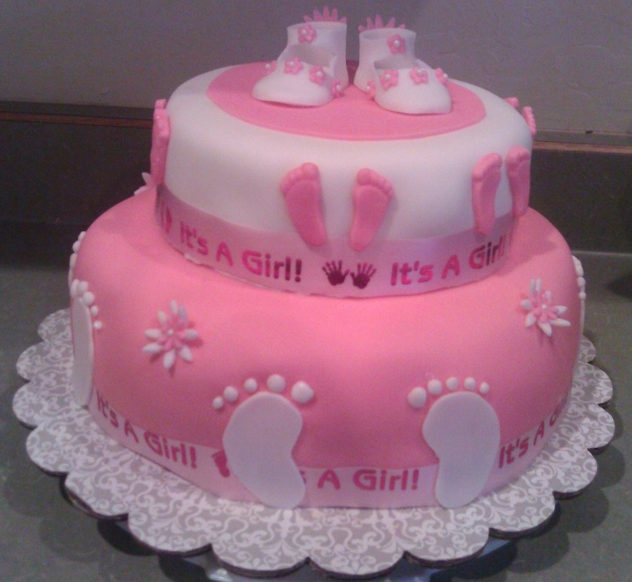 Pictures of babyshower cakes girl — pic 3