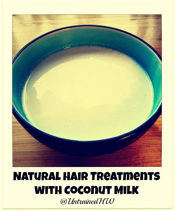 Put the milk into a bowl and soak your hair in it for about a minute or two. Put on an old top you don't mind using while doing this.