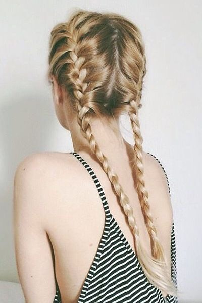 Sleep in two vary loss, two braids