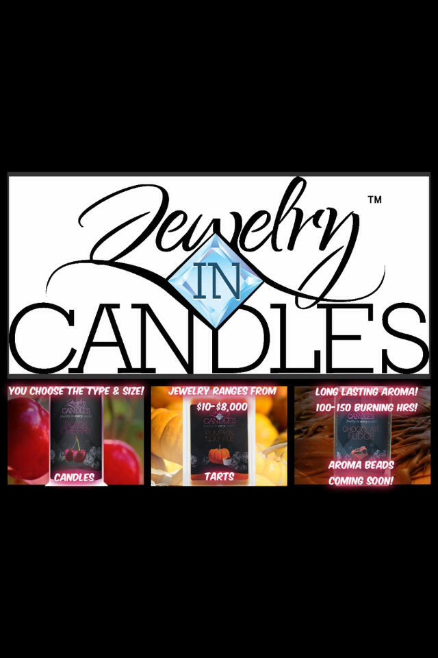 Made from Soy Wax! Choose your scent, choose the type of jewelry you want, and if you want a candle or a tart! http://bit.ly/H7dDII