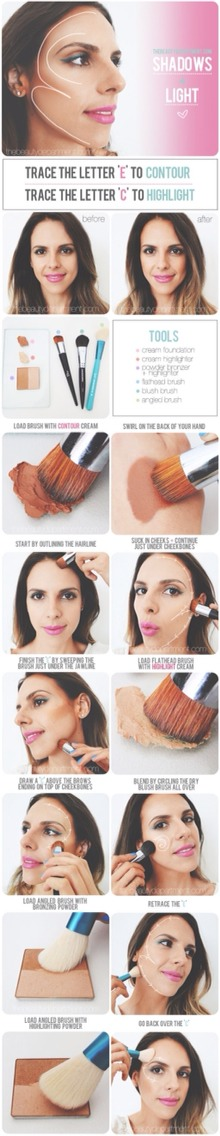A simple highlighting and contouring guide for makeup loving beginners!