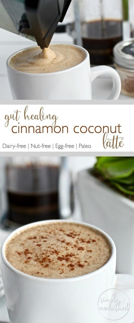 Go to website to get ingredients and directions 🍁☕️ http://therealfoodrds.com/gut-healing-cinnamon-coconut-latte/