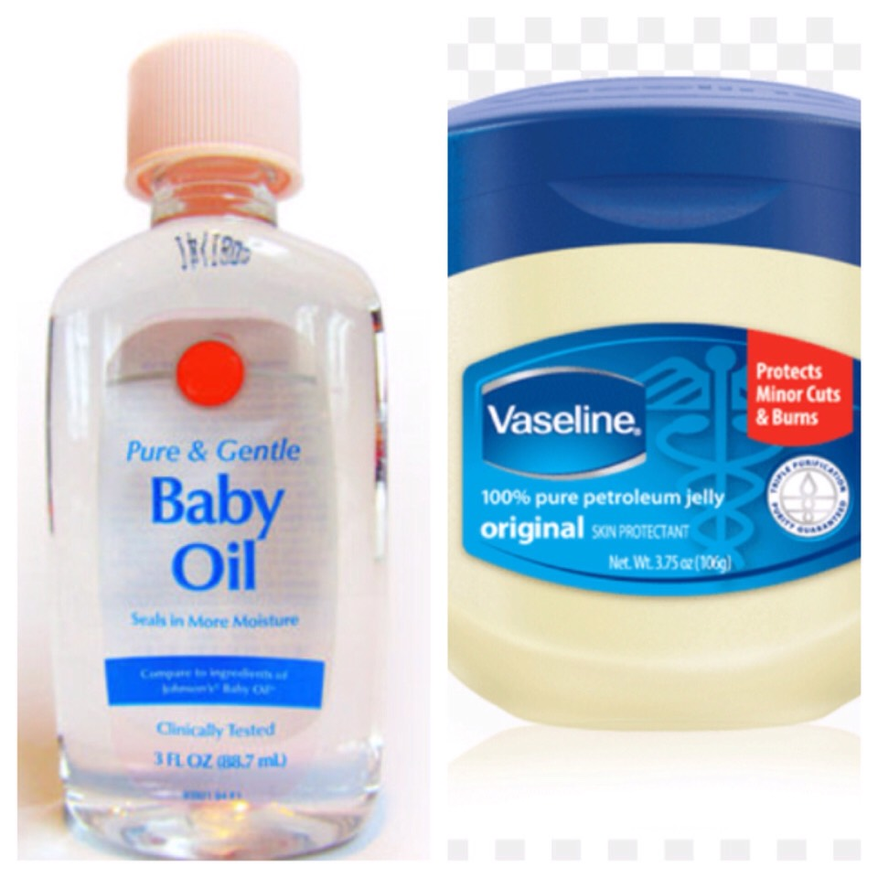 Use baby oil or Vaseline on a tissue to remove stubborn eye makeup.