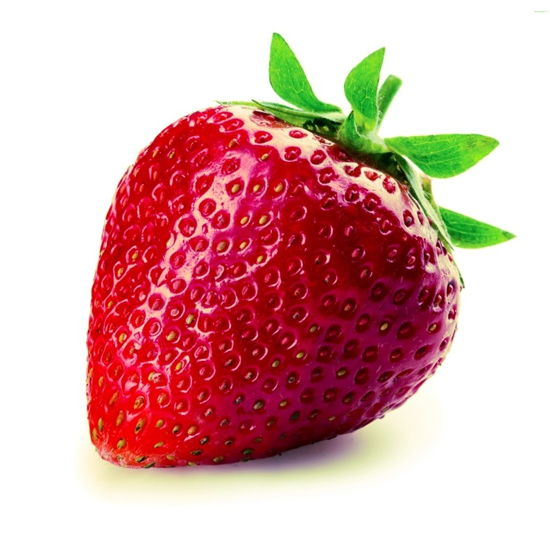 You will need the following: strawberry, skewers and a vase.