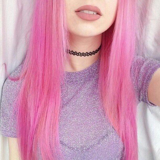 27. Pale Pink Kawaii Hairstyle with Choker: