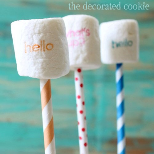 14. Stamped Marshmallows