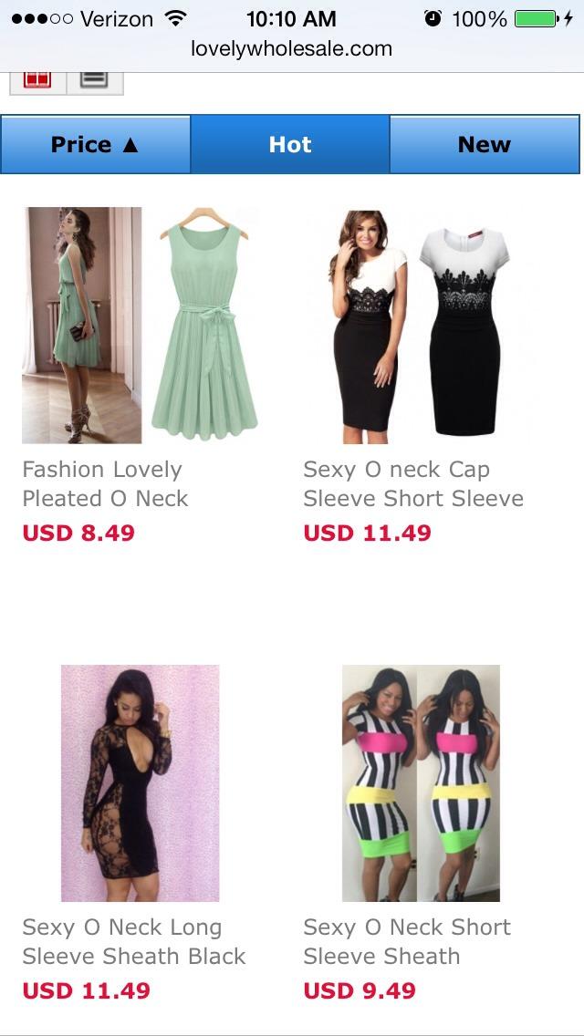On Dresses!!!