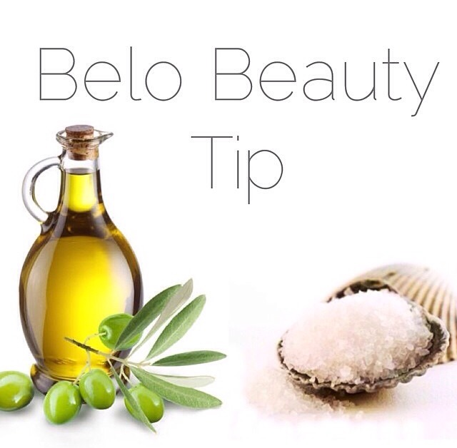 suffering from dry skin? mix rock sea salt and olive oil and massage gently into the skin and rinse off.