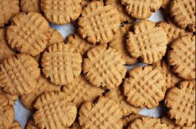 Only four ingredients:  1 cup of sugar 1 cup of peanut butter 1 egg 1 tsp vanilla extract Bake at 350 for 15 minutes