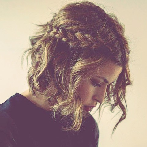 Sideways front to back- messy braid