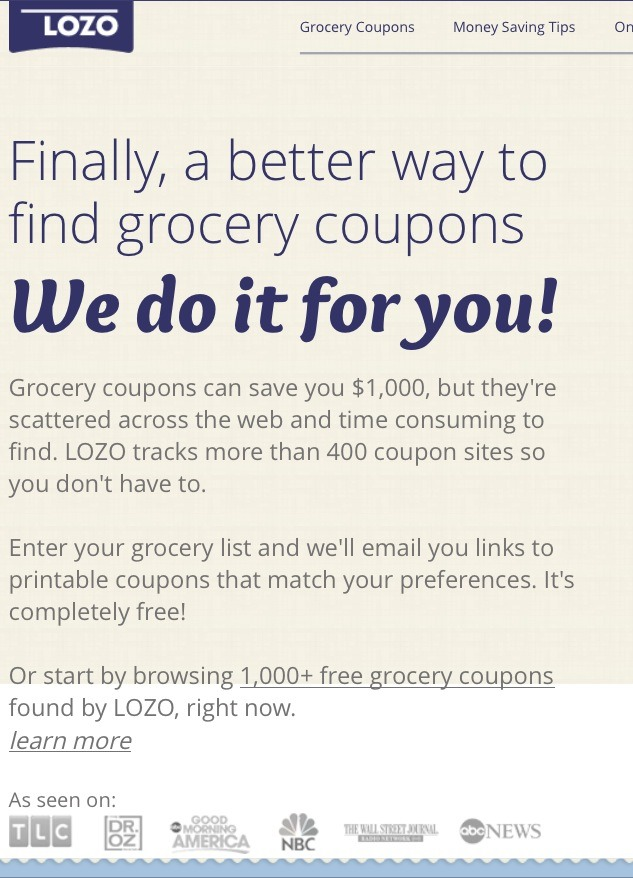 photo relating to Lozo Printable Coupons referred to as At On your own Can Input Your Grocery Record And By yourself Will Be
