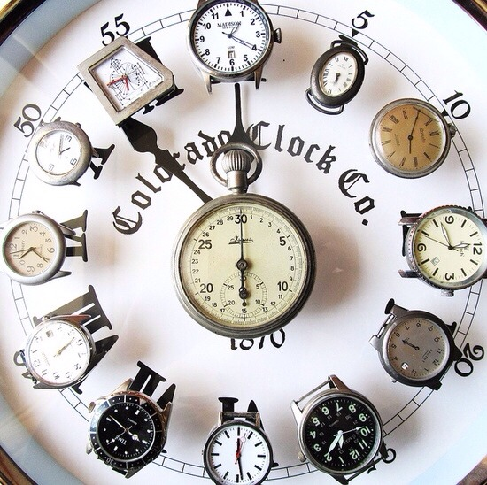 Old watches New clock !