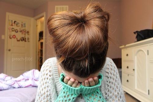 The simple bun look