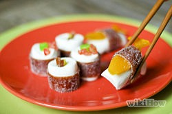 Do you need an idea for a creative dessert? This fun dessert incorporates Western sweets with a traditional Asian art form. Use some creativity and these instructions to create a tasty dessert to follow a delicious sushi dinner.