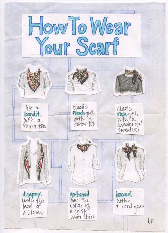 Follow this cute infographic for a bunch of basic ways to tie a scarf.