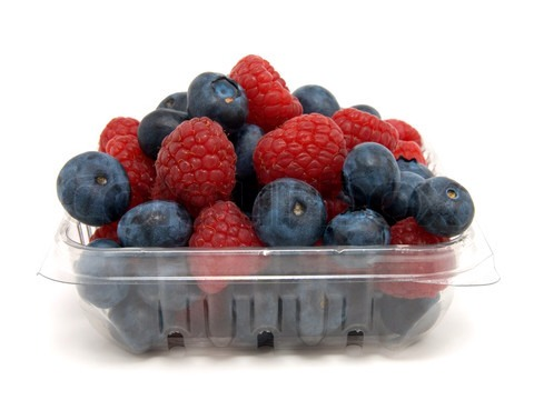 The bottom of the plastic berry container with a damp coffee filter and place BERRYS back in the container and place into fridge. And that's all there is too keeping your fruits & veggies fresher longer 😊🍓🍆🍈🍅!