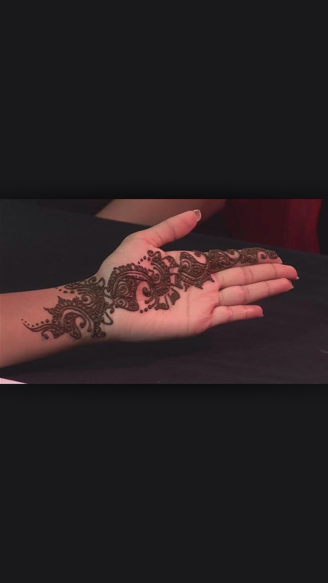 Looks awesome after wash ur hand once ur heena dry!!!