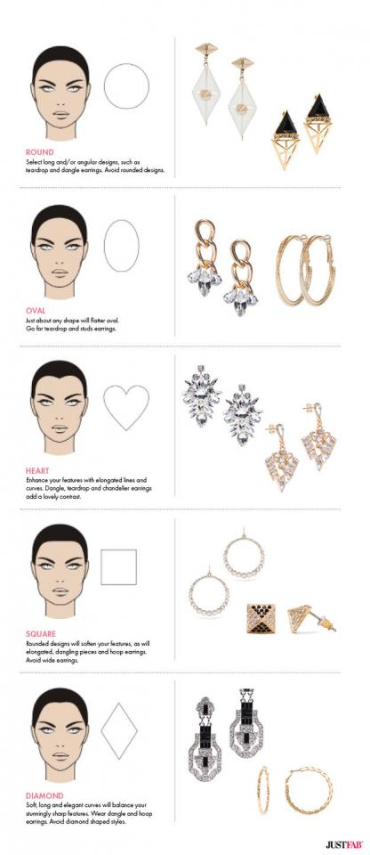 35. Choose earrings that work best with your face shape.