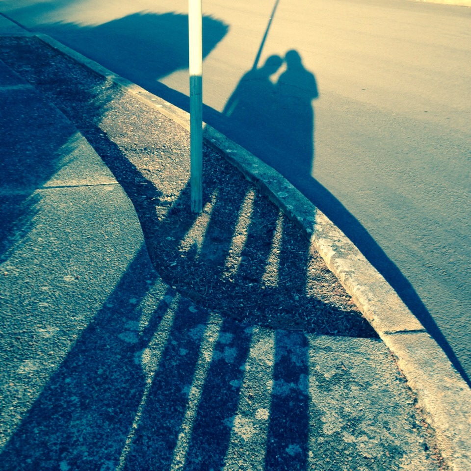 When your out on a walk or bike ride with a friend you can take a photo of your shadows for a fun dramatic effect
