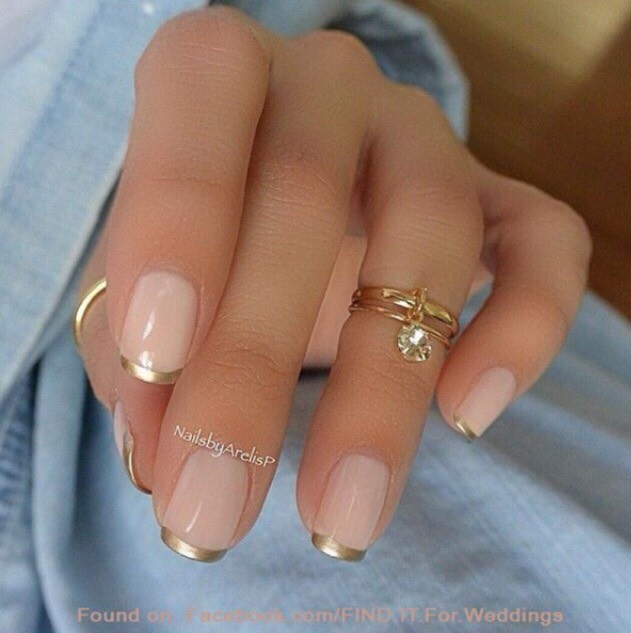 24. GOLD FRENCH TIP