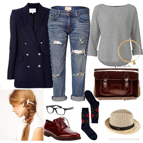 Just do a side braid some long socks nice vintage hat some rolled up jeans and a sweater it a cute nerd outfit