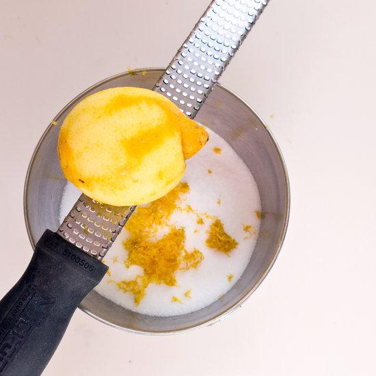 Now grate the lemon peel into the mixture along with adding the liquid dish soap.