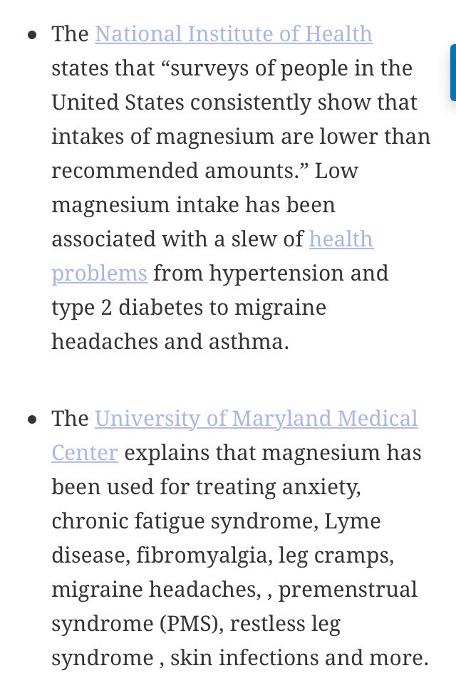 Benefits of Magnesium!