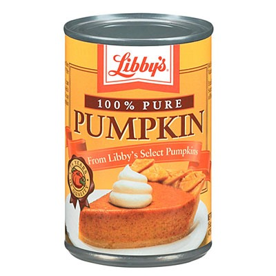 First, you'll need canned pumpkin. I like to use Libby's brand.