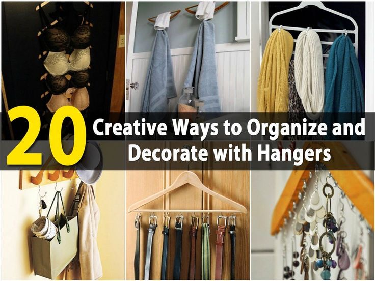 If you are looking for fun and creative ways to decorate and you have a lot of hangers just lying around, there are many crafts that you can do with those hangers. Using hangers for decorating is great because they offer organization as well as decoration.