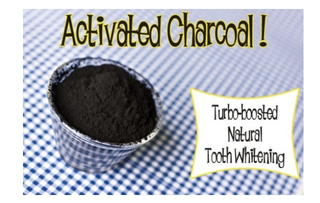 Nature's Teeth Whitener:  * Brush teeth as normal  * Mix activated charcoal with a little bit of water and swish for 30 seconds. Rinse!   Absolutely amazing.   Check out my other tips for more on Activated Carbon [Charcoal]