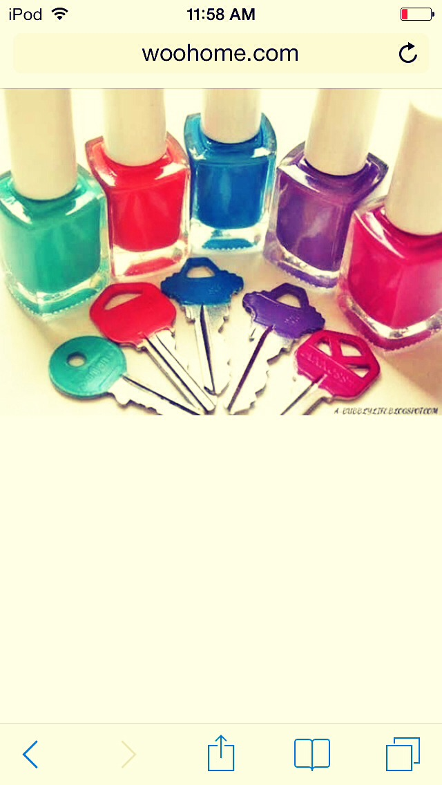 Color coded them! :) < 3