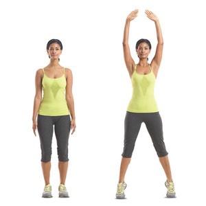 100 jumping jacks-Medius  Bigger hips and glutes