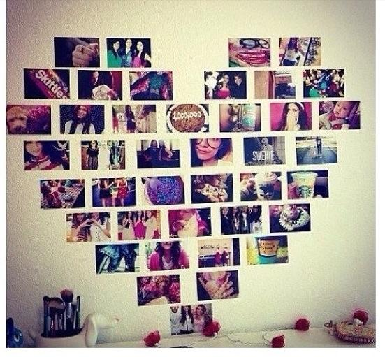 Meaningful pictures in a heart shape