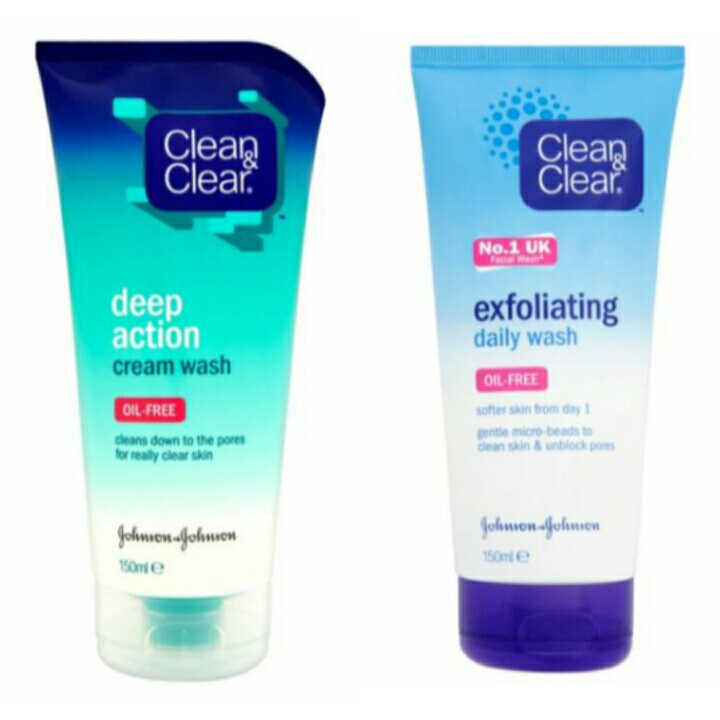 I am using the Cream wash on the left on the moment and it truly makes a difference, I have been using it every day for two weeks and it has made my skin softer and reduces spots.